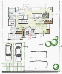 Buy Home Decorations Online Code: 7454279925 Dream House Plans, House Floor Plans, Japanese Architecture, Architecture Design, Craftsman Floor Plans, Plan Sketch, Interior Design Website, Room Planning, House Layouts