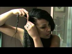 Flat Twist Out on relaxed hair - YouTube