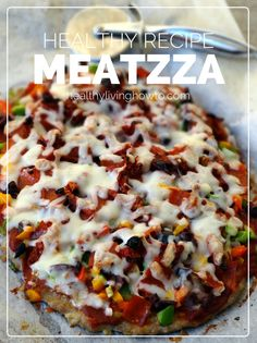 Healthy Recipe: Meatzza!  Mmm!  If this is low carb count me in!  ;)