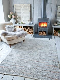 Gorgeous grey and copper rug Nordic House