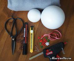 Como hacer muñecos de nieve con esferas unicel01