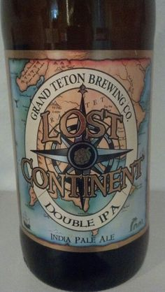 Grand Teton Brewing Co, Lost Continent Double IPA, Victor, ID