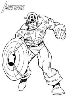 Avengers Age Of Ultron Coloring Pages Captain America. A proud young man who manages to stay young! Steve Rogers takes on the adventure of a super soldier to become the one-man army of America. Hulk Coloring Pages, Avengers Coloring Pages, Spiderman Coloring, Free Coloring Sheets, Printable Coloring Sheets, Coloring Pages For Boys, Coloring Pages To Print, Coloring Books, Captain America Images