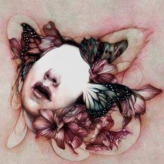 Color pencil drawing by Marco Mazzoni Crayon Drawings, Art Drawings, Art Folder, Surrealism Painting, Insect Art, Color Pencil Art, Watercolor Print, Portrait Art, Dark Art