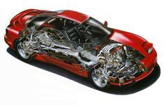 Cutaway View of the RX-7 FD