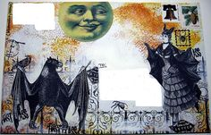 Halloween Mail Art 1 by bluemama, via Flickr