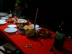 Cena de navidad, christmas dinner table