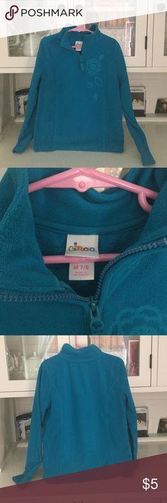 Aqua blue fleece top Long sleeve....Warm and comfortable...1/2 zip closure...size m= 7/8 Circo Shirts & Tops Sweatshirts & Hoodies
