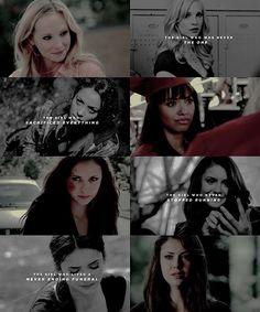 Caroline + Bonnie + Katherine + Elena