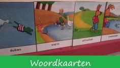 Woordkaarten 'Kikker en de warme dag' Frog Theme Preschool, Games For Kids, Diy For Kids, Preschool Lessons, Childrens Books, Language, Family Guy, Camping, Teaching