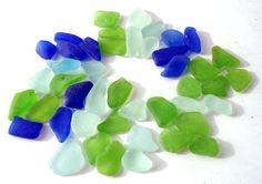 Genuine Beach Glass Bulk Sea Glass Aqua Sea Foam by tesorosdelmar, $24.99