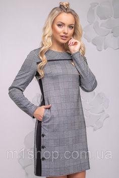 e07e5a2b3e76 Женское асимметричное платье в клетку (2776-2775-2777 svt) купить недорого