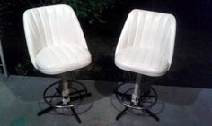 2 vintage vinyl bar stools AWESOME They are for sale, just not sure how much yet...make an offer?/