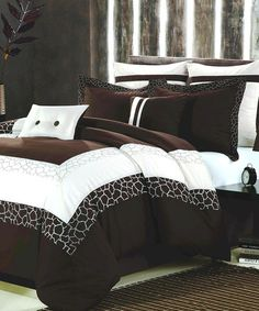 Take a look at this Beige & Brown Safari Comforter Set by Chic Home Design on #zulily today!