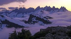 north cascades sunrise - Picket Range So dawn goes down to day.  Nothing gold can stay.