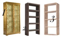 Bookcases by Aerin Lauder, Mitchell Gold + Bob Williams, MCGuire