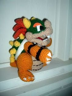 Super Mario Bowser. mario bowser, craft, free pattern, free amigurumi, knit, video games, crochet patterns, super mario bros, amigurumi patterns
