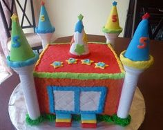 Bounce House Cake Maybe Without The Slide Just With A Small