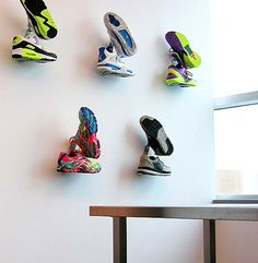 If you want to showcase your favorite sneakers, do it in style with the Shrine Sneaker Rack