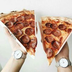 go to a new pizza place and eat a piece inside or somewhere outside the place take photos and enjoy