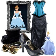 A fashion look from June 2013 featuring vintage skirts, top hat and high heel shoes. Browse and shop related looks. Disney Princess Fashion, Disney Inspired Fashion, Disney Style, Steampunk Costume, Steampunk Clothing, Steampunk Fashion, Punk Outfits, Disney Outfits, Steampunk Disney Princesses