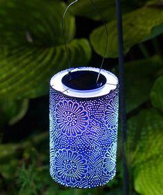 Loving this Blue Soji Solar Stella Lantern on #zulily! #zulilyfinds