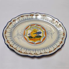 Toscana Cuore Fluted Oval Platter - Italian Pottery Outlet