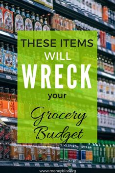 Items not to buy at eat grocery store. What to buy at the grocery store on a budget. Food to buy at the grocery store. Grocery shopping on a budget. Healthy grocery shopping on a budget. What food to avoid buying at the grocery store. Best Money Saving Tips, Money Tips, Saving Money, Money Hacks, Save Money On Groceries, Ways To Save Money, How To Make Money, Groceries Budget, Healthy Grocery Shopping