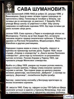 SlAvKo JOVIČIĆ SLAVUJ:  За сјећање и памћење ... На данашњи дан 22.01. рођен је један од највећих српских сликара свих времена САВА ШУМАНОВИЋ