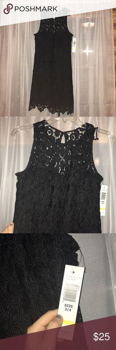 Black lace dress High neck lace black dress. Brand new with tag. Dresses Mini