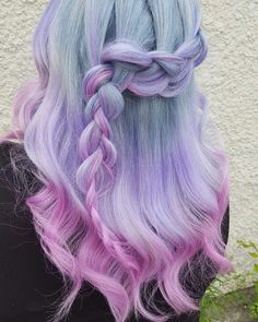 Unicorn braid super cute hair color and hairstyle design dye my hair, pastel hair dye Cute Hair Colors, Cool Hair Color, Cute Hairstyles, Braided Hairstyles, Model Hairstyles, Dyed Hair Pastel, Fantasy Hair, Dye My Hair, Mermaid Hair