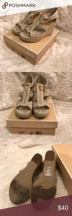 Michael Kora wedge sandals These are pre worn Michael Kors wedge sandals in a size 8. Michael Kors Shoes Wedges