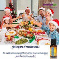 Evita malestares estomacales con aceite esencial de menta doTERRA