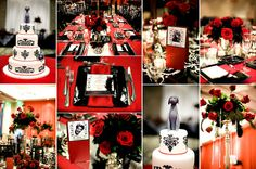 A Hollywood inspired wedding would be a great idea for couples who are big movie buffs.   A bold colour palette of silver, black, gold, ruby red and white would really compliment the glamour of Hollywood.   For table décor with a modern twist, why not have clapperboards titled with the names of your favourite movies or for timeless elegance, tall candelabras with hanging crystals to dazzle your guests.