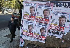 Começa nesta sexta-feira na Argentina a preparação para as eleições primárias no próximo domingo, que determinará os candidatos que disputarão as eleições legislativas de 27 de outubro - http://epoca.globo.com/tempo/fotos/2013/08/fotos-do-dia-9-de-agosto-de-2013.html (Foto:EFE/ David Fernández)