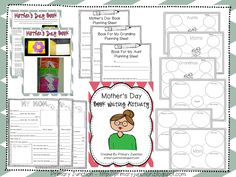 Free Mother's Day Packet - includes book template and instructions, bubble maps (mom, grandma, aunt), rough draft plan sheets, and fill-in-the-blank activity (mom, grandma, aunt)!