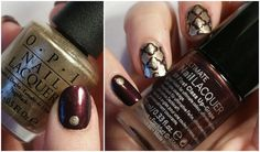 Quatrefoil Nails with OPI Glitzerland   Polished Casual