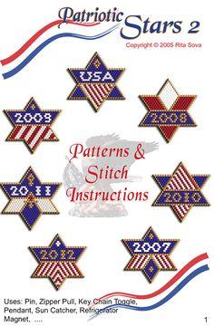 Patriotic Stars 2 | Bead-Patterns.com