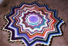 Delicadezas en crochet Gabriela: Alfombra de restos de lanas de colores