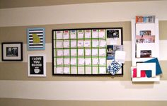 Home office wall organization to keep clutter off the desk