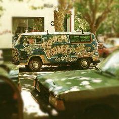 VW Camper Van: Flower Power
