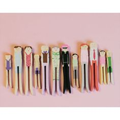 clothespin doll family