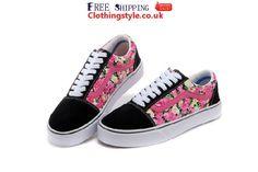 Vans Old Skool Floral Print Womens Low Shoes