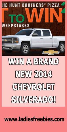 Win A $40,000 Chevy Silverado on ladiesfreebies.com! #chevy #sweepstakes #giveaway #free Chevrolet Silverado, Cool Cars, Giveaway, Free