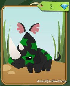 New Diamond Pets: Rhino, Giraffe, & Hummingbird animal-jam-pet-rhino-codes  #AnimalJam #Pets http://www.animaljamworld.com/new-diamond-pets-rhino-giraffe-hummingbird/