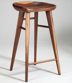 Taburet Wooden Bar Stool $350 no ? return walnut/white oak 79cm/69cm