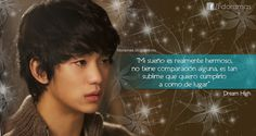 Frases de doramas: Dream High I y II Cheese In The Trap, Dream High, Romance, Korean Music, Drama Movies, Music Industry, Kdrama, High School, Quotes