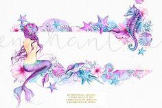 Enchanted Ocean - Watercolor Mermaid - Illustrations - 5