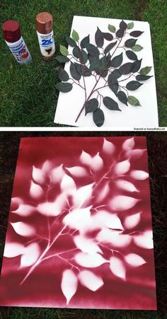 DIY wall art with leaves and spray paint. But gold leaves on gray. - - DIY wall art with leaves and spray paint. But gold leaves on gray. basteln mit kinder DIY wall art with leaves and spray paint. But gold leaves on gray. Diy Wand, Diy Spray Paint, Spray Painting, Painting Walls, Painting Art, Painting Flowers, Spray Paint Canvas, Painting Tips, Painting Techniques