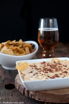 Beer and Bacon Dip -- a perfect snack for the guys while they're getting ready.